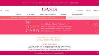 My Oasis Card