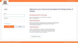 Orange County Community Foundation, Inc. - Login Screen