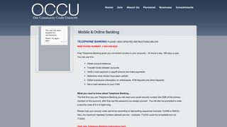 Mobile & Online Banking :: Our Community Credit Union