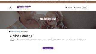 Online Banking | Orange County's Credit Union