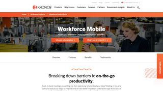 Workforce Mobile; Mobile Access for Workforce Central | Kronos