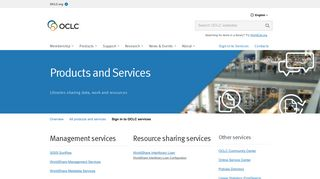 Sign in to OCLC services