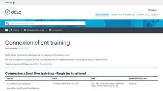Connexion client - OCLC
