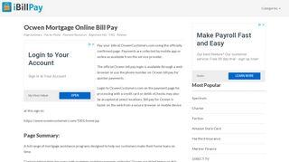Ocwen Mortgage Bill Pay Online, Login, Customer Service & Sign-In ...