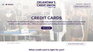 Oklahoma's Credit Union Credit Cards | Find the best credit card for ...