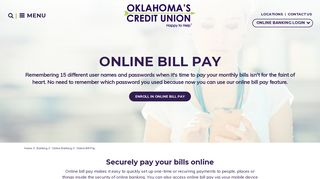 Online Bill Payment | Pay Bills Online | Oklahoma's Credit Union ...