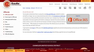 Office 365 / Office 365 in CUSD - Chandler Unified School District