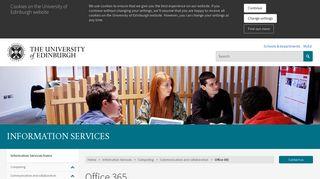 Office 365 | The University of Edinburgh