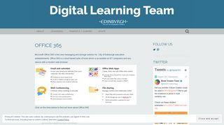 Office 365 | Digital Learning Team