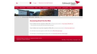 owa - Edinburgh Napier Staff Intranet - Edinburgh Napier University