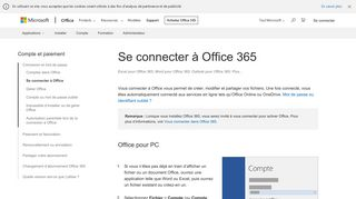 Se connecter à Office 365 - Support Office
