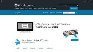 WordPress + Office 365 login | WordPress.org
