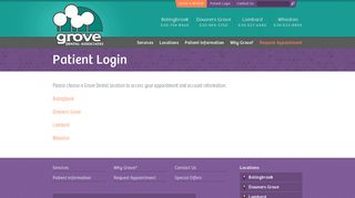 Patient Login - Grove Dental Associates