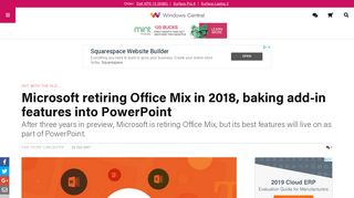 Microsoft retiring Office Mix in 2018, baking add-in features into ...