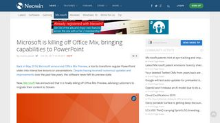 Microsoft is killing off Office Mix, bringing capabilities to PowerPoint ...