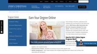 Earn Your Degree Online | Ohio Christian University