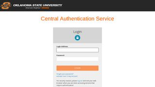 Login - CAS – Central Authentication Service - Okstate - Oklahoma ...