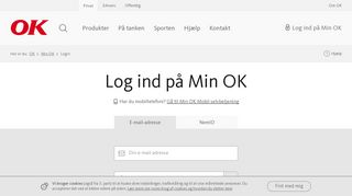 Log ind på Min OK - selvbetjening for OK's kunder - OK