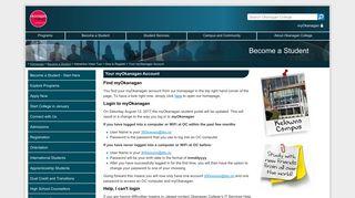 Your myOkanagan Account - Okanagan College
