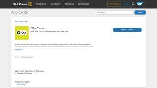 Ola Cabs - SAP Concur App Center