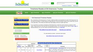 Old Greenwood in Truckee, California - Timeshare Sales and Resales ...