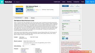 Old National Bank Reviews: 22 User Ratings - WalletHub