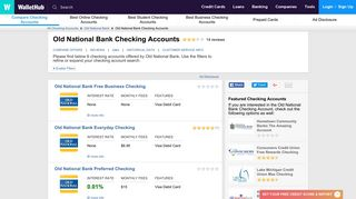 Old National Bank Checking Accounts: Reviews, Latest Offers, Q&A ...