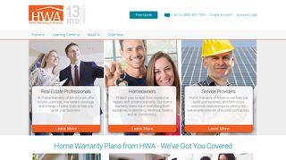 Home Warranty of America: Home Warranty Plans