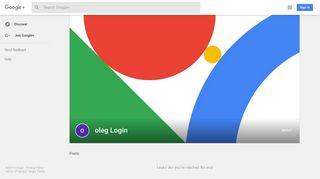 oleg Login - Google+