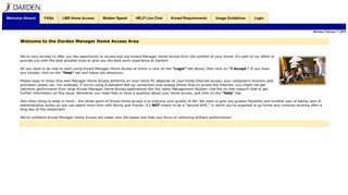 Manager Home Access: Welcome - Darden Restaurants