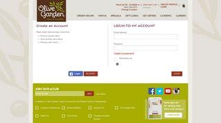 Account Login | Olive Garden Italian Restaurant