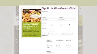 Olive Garden Italian Restaurant | Family Style Dining | Italian Food