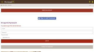 Or Log In to My Account - My Account | Olive Garden Italian Restaurant