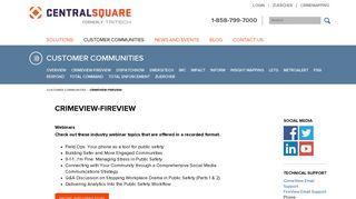 Customer Communities - CrimeView-FireView - TriTech Software ...