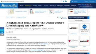 Neighborhood crime report: The Omega Group's CrimeMapping and ...