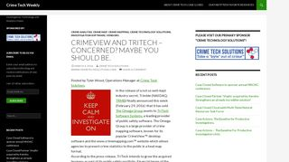 CrimeView and TriTech - Concerned? Maybe you should be. - Crime ...