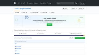 GitHub - omeka/plugin-GuestUser: Adds a role allowing users with no ...
