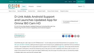 D-Link Adds Android Support and Launches Updated App for Omna ...