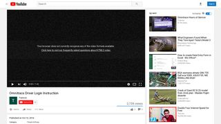 Omnitracs Driver Login Instruction - YouTube
