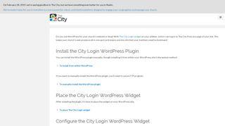 The City Login WordPress Plugin - Help Centers - ACS Technologies