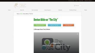 "Denton Bible on ""The City"""