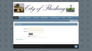 Login - City of Flushing