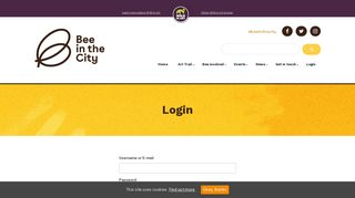 Login - Bee in the City 2018 : Bee in the City 2018