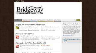 Bridgeway Community Church - The City Plaza - Bridgeway ...