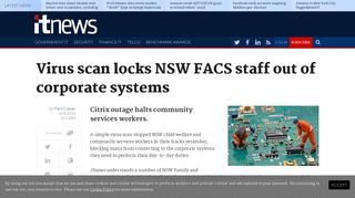 Virus scan locks NSW FACS staff out of corporate systems - iTnews