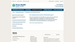 Pre-Registration with One Medical Passport - Texas Health Surgery ...