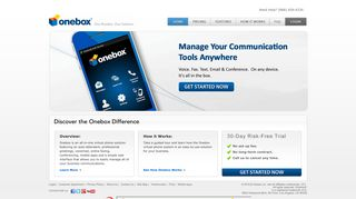 Onebox® virtual phone system is powerful, reliable, & dependable
