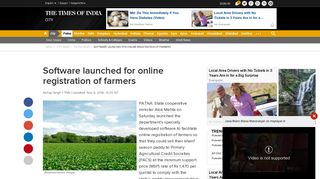 Software launched for online registration of farmers | Patna News ...