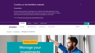 Manage Your Investments | Natwest