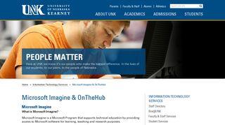 Microsoft Imagine & OnTheHub   University of Nebraska at Kearney